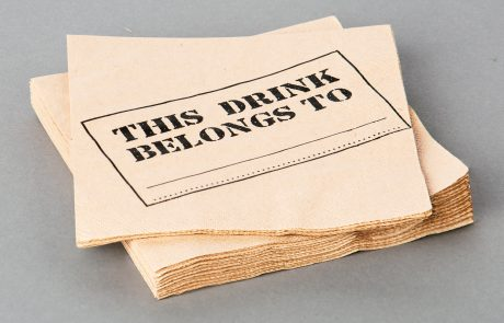 Cocktail Napkin, 3-ply tissue, brown paper