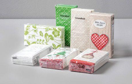 Pocket tissues, 4-ply tissue